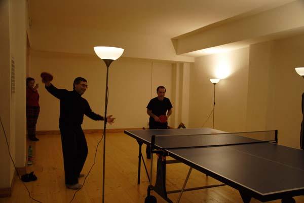 Partita del torneo di pingpong