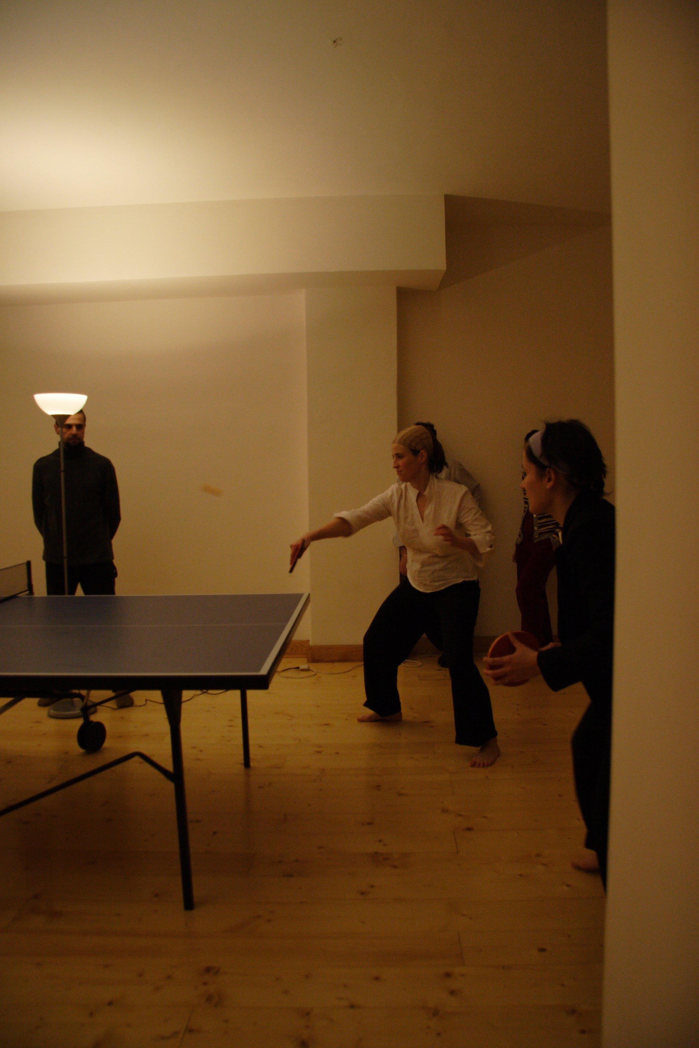 Finale di doppio del torneo di pingpong