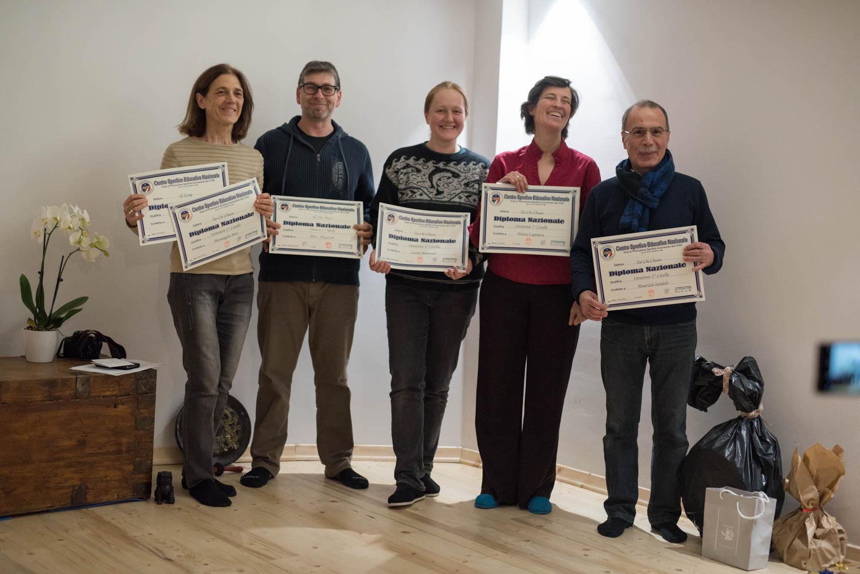 I diplomi CSEN per gli istruttori di tai chi e qi gong